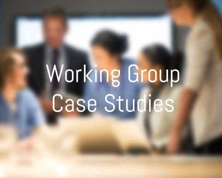 Working Group Case Studies
