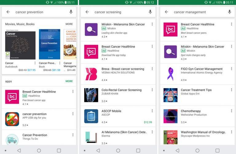 Top cancer digital apps