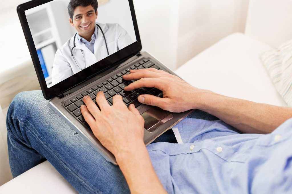 Virtual home visit with physician