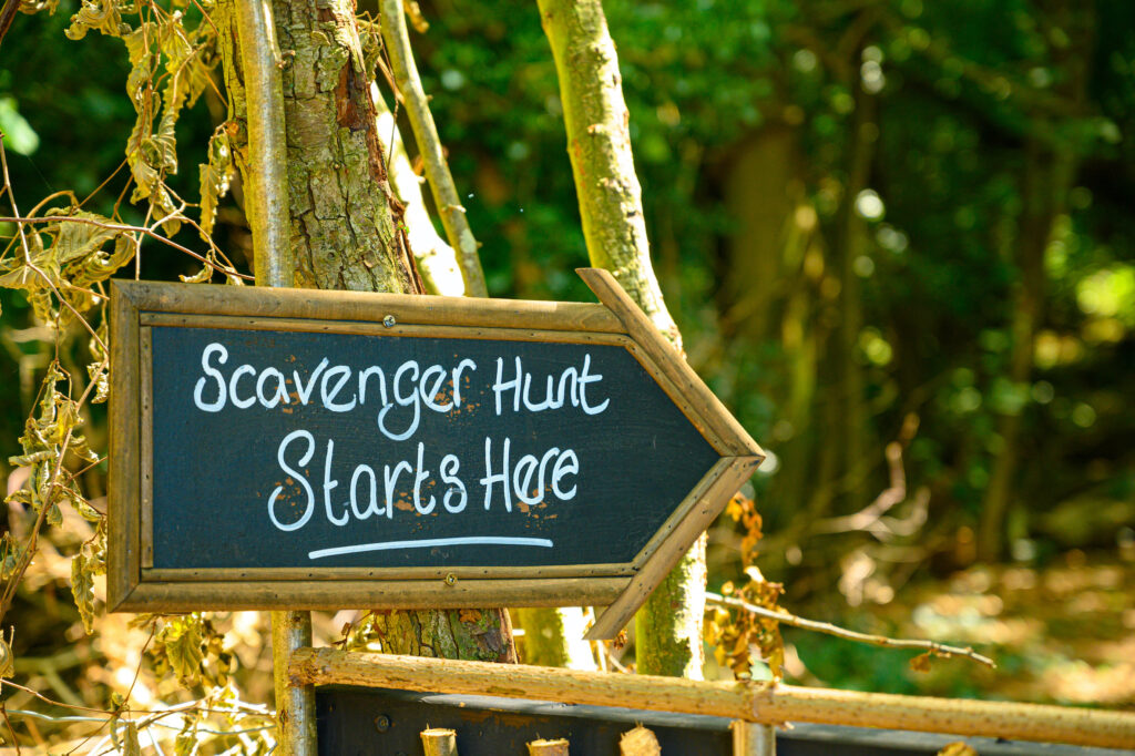 Scavenger hunts are a great way to gamify virtual events