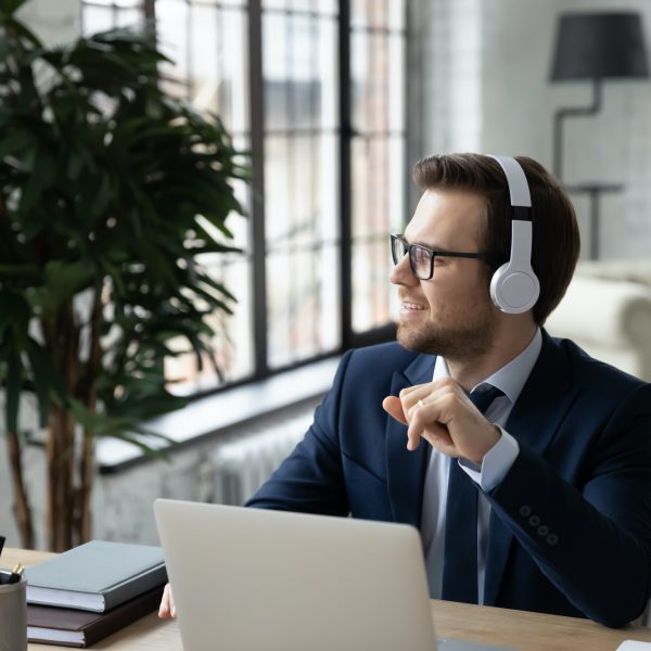 "Man listening to ""Healthcare goes digital"" by Impetus Digital"